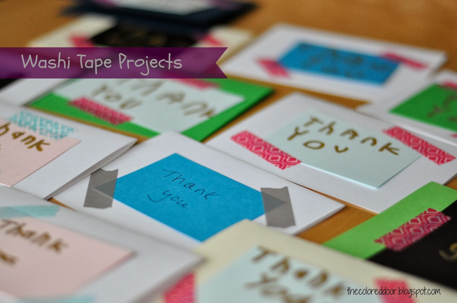 Washi tape projects - the colored door