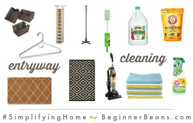 Simplifying Home: Entryway + Cleaning Products