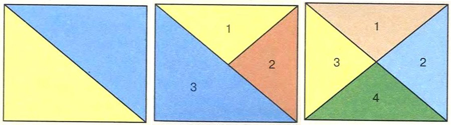 Пэчворк.  Дизайн «Диагональные треугольники»