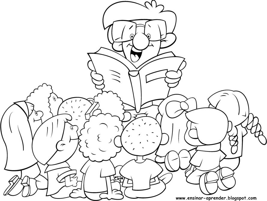 Desenhos - Dia do Livro Infantil para Colorir - 10 Dez - O melhor das ...