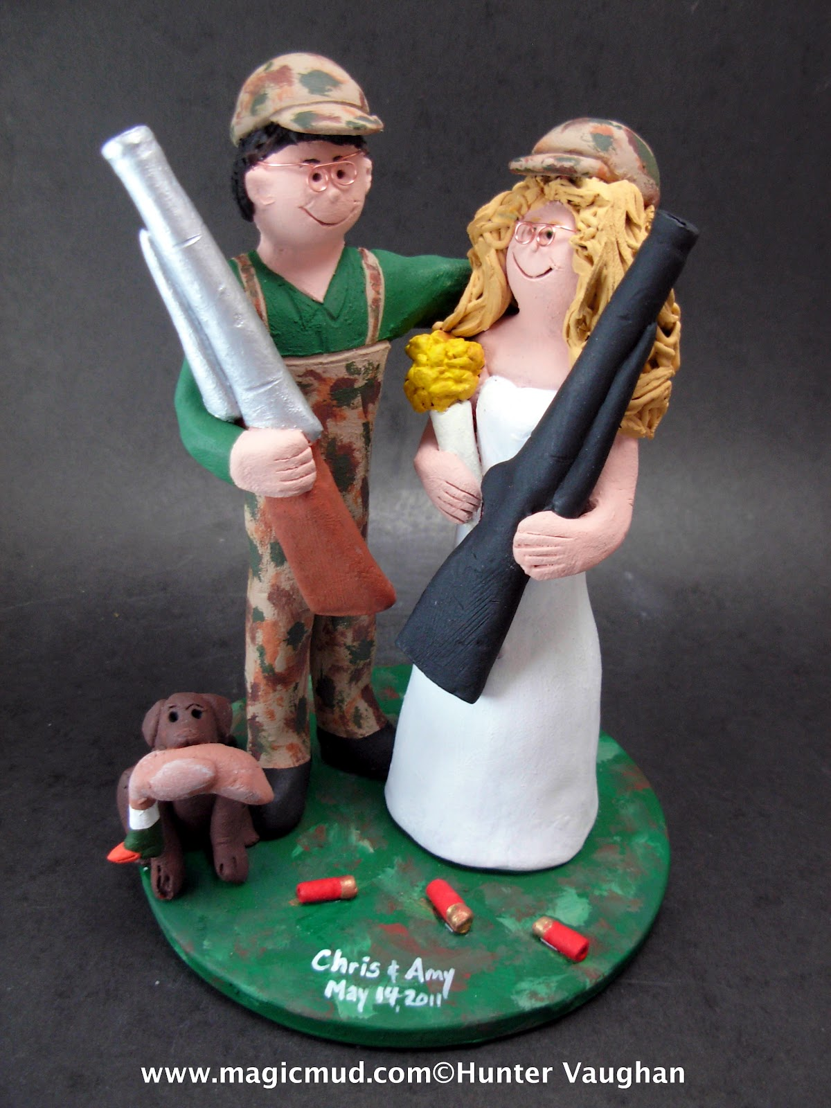custom wedding cake toppers Redneck Wedding Cake Topper