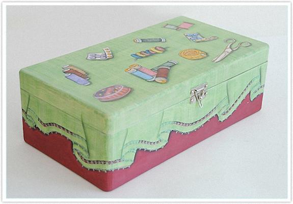 Como pintar una caja de madera cositasconmesh - Aprender a pintar en madera ...