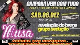 MUSA NO PÁTIO DE EVENTOS DE CAAPORÃ.