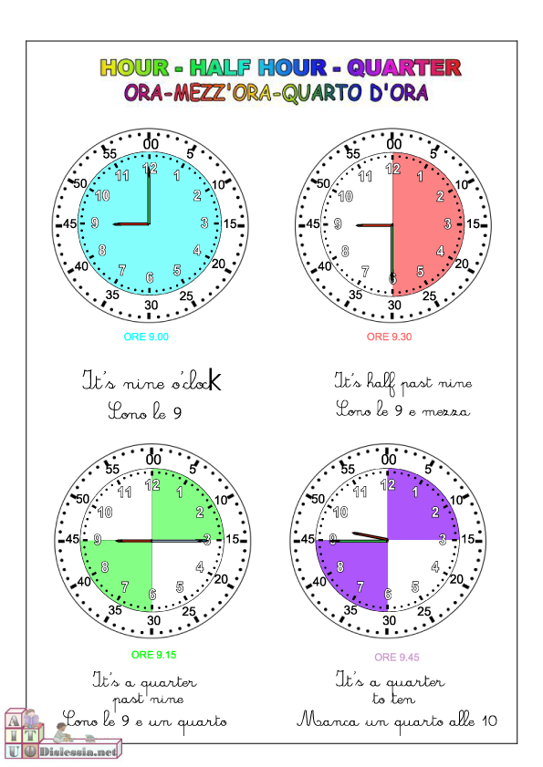 Ben noto Paradiso delle mappe: Leggere l'ora in inglese TY01