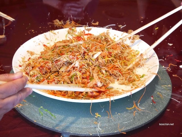 The rather messy aftermath of yee sang tossing