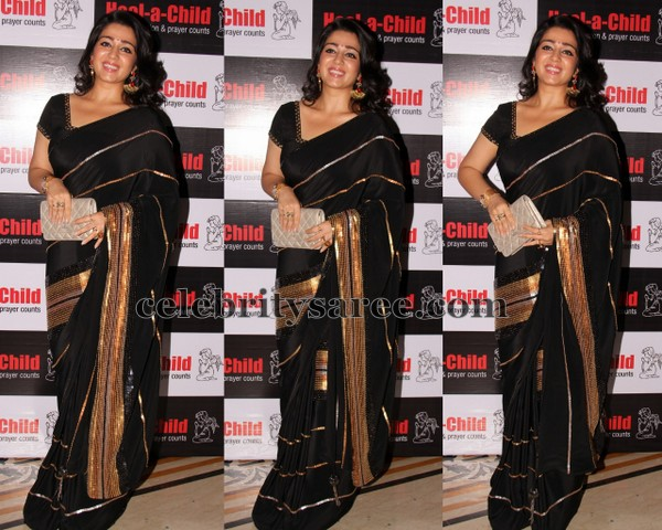 Charmi Black Half Sari and Saree