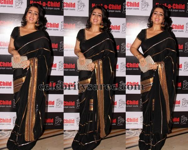 Charmi Black Half Sari and Saree