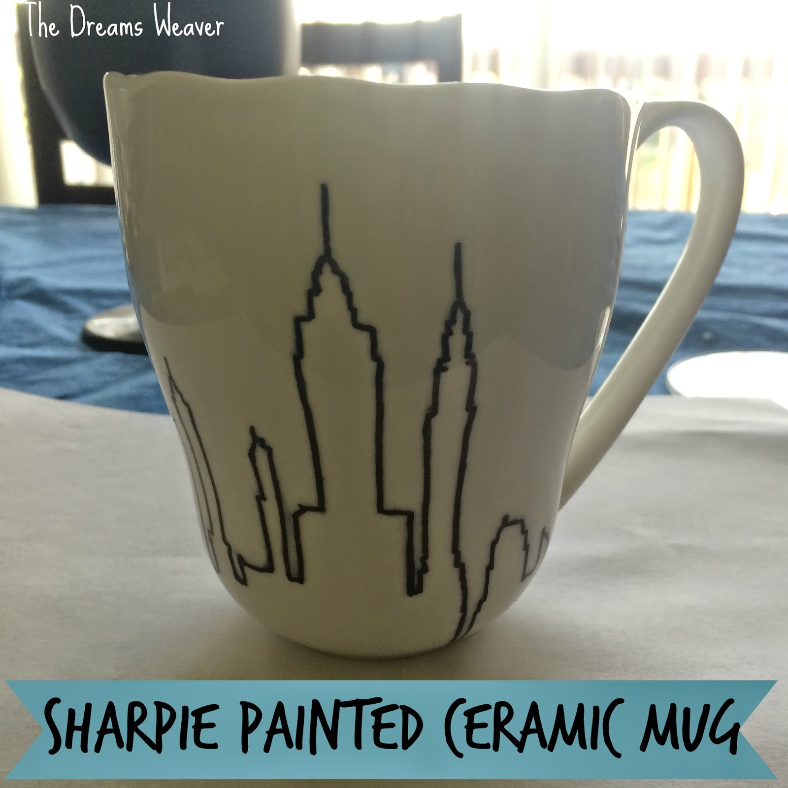 Sharpie Painted Ceramic Mug~ The Dreams Weaver