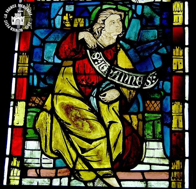 PARIS (75) - Musée National du Moyen Age : Vitraux de l'ancien château de Rouen - Saint-Jean