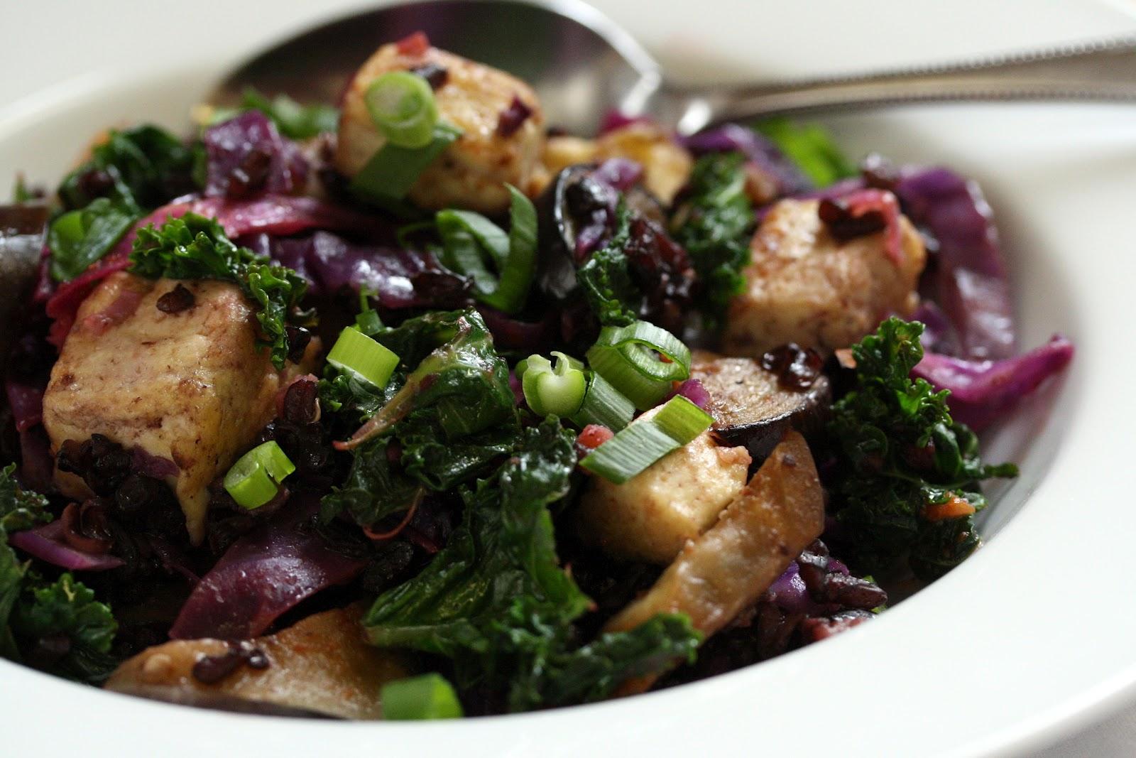 Black Rice Vegetable Stir Fry - Saving Room for Dessert
