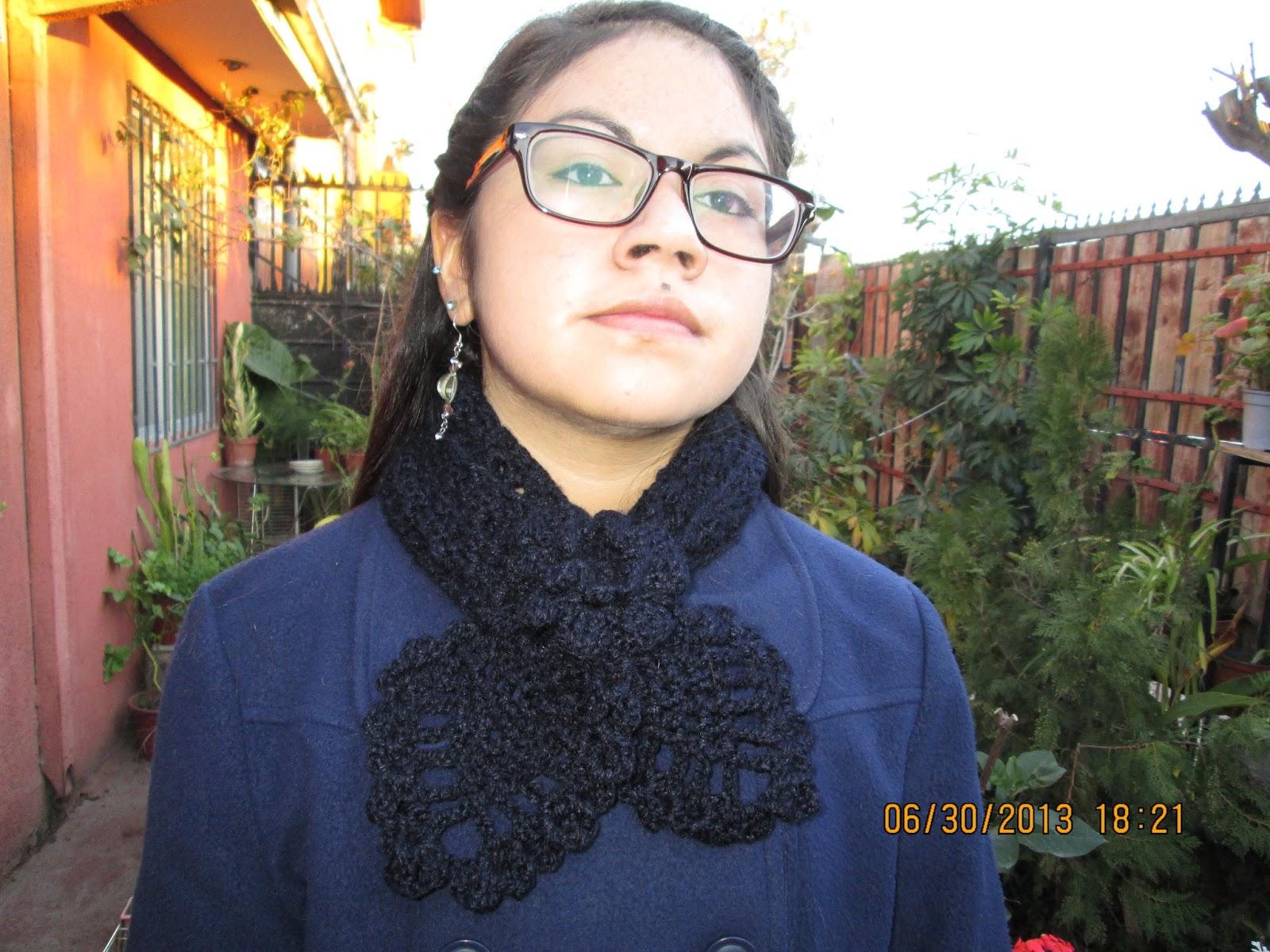 Mi terapia el tejido *: Bufanda con punto piña.