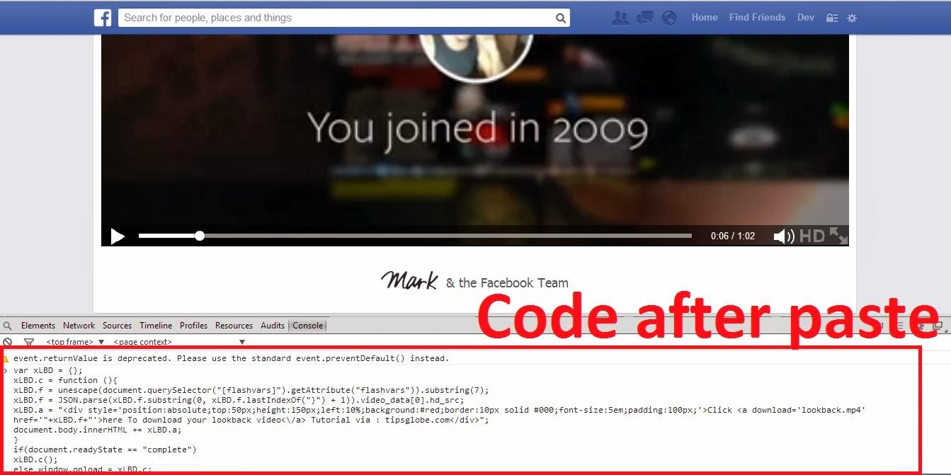 Download LookBack Video of Facebook