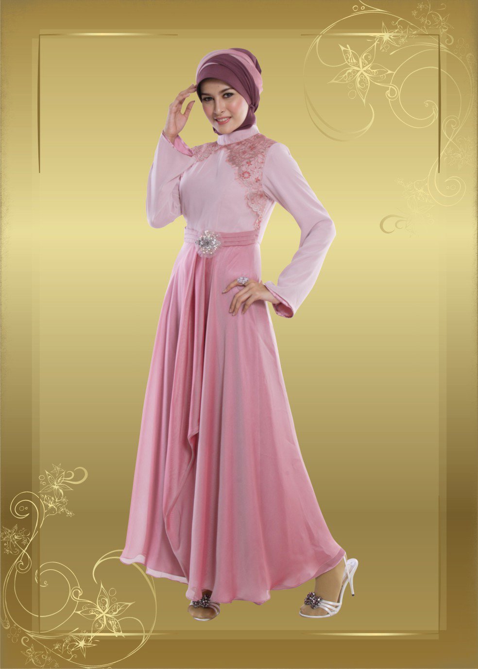 Model Dress 018 Dusty Pink