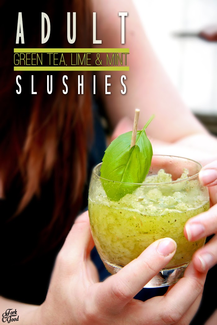 Adult Green tea & lime slushies