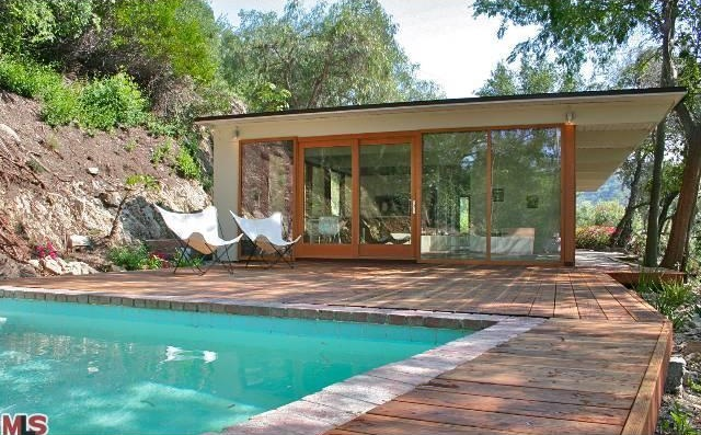 Former rock hudson mid century modern home by ralph bowerman available in studio city san for Hudson swimming pool timetable