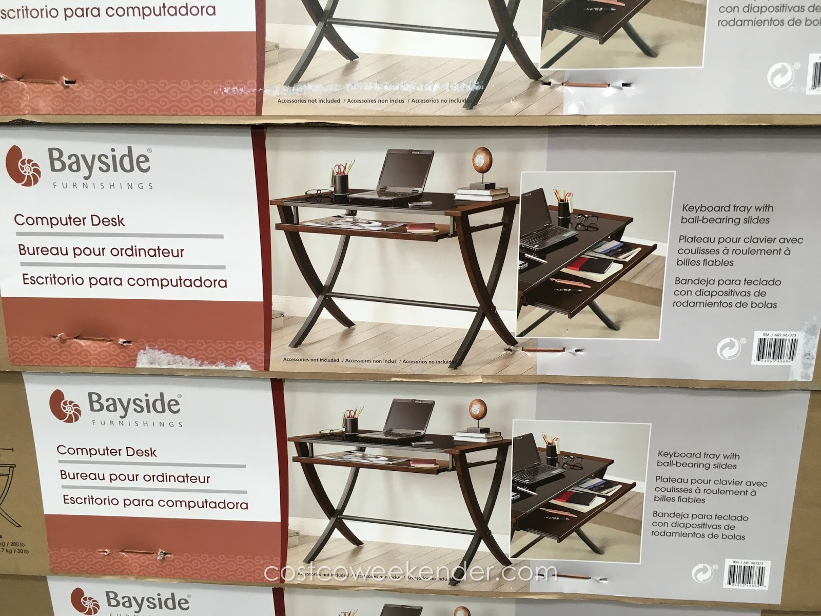 Bayside Furnishings 48 inch puter Desk