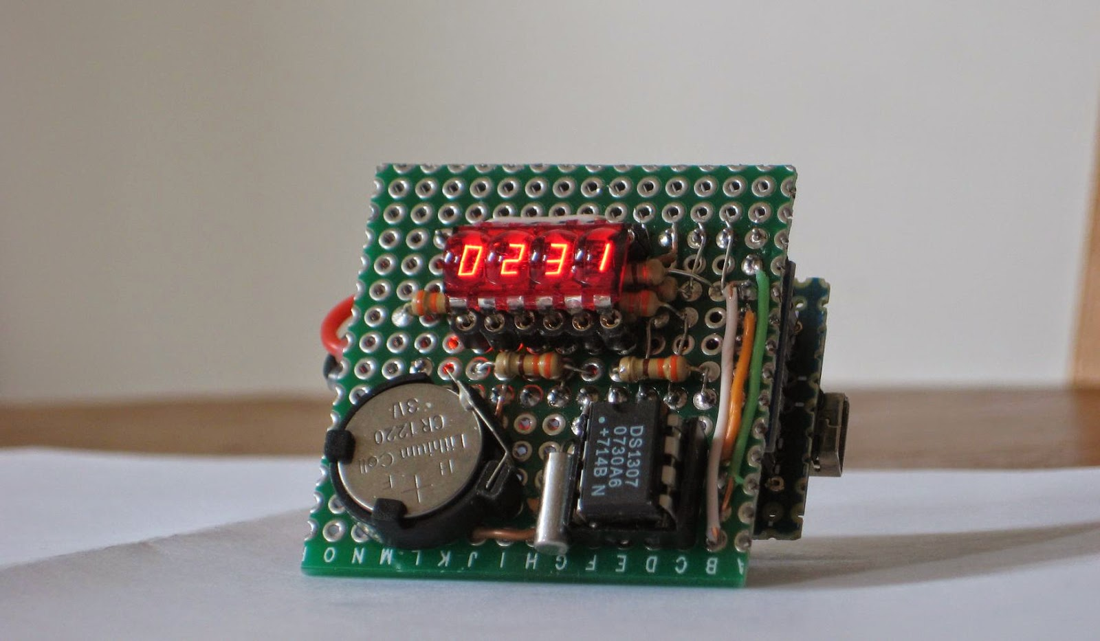 Wise Time With Arduino Micro Clock 7 Segment Bubble Display Circuit Schematic Nixie Tube Kit Calculator