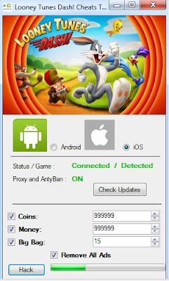 Looney-Tunes-Dash-Android-iOS-Hack-Cheats-No-Surveys