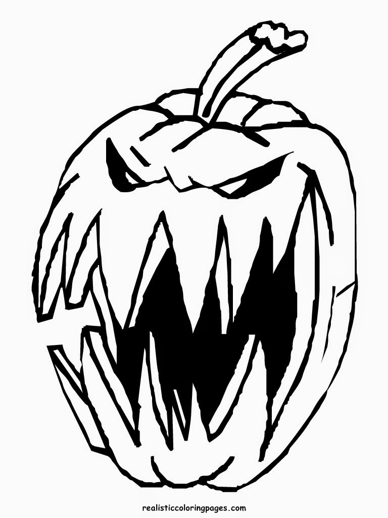 realistic halloween coloring pages - photo#20