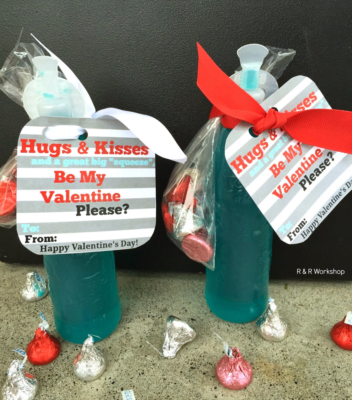 R & R Workshop: Hugs & Kisses Valentine Idea and Printable Gift Tag