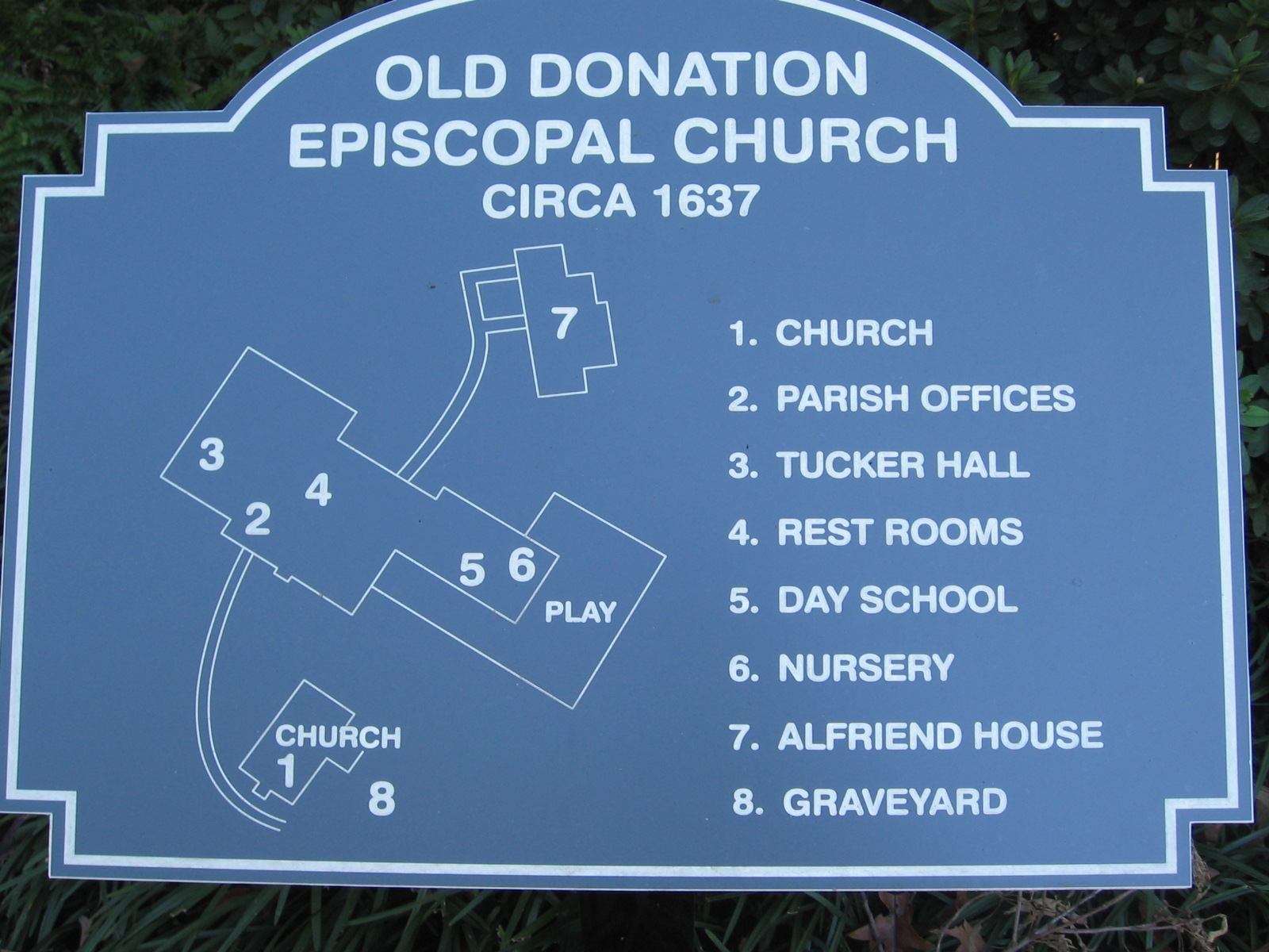 Old Donation Church: Donation History