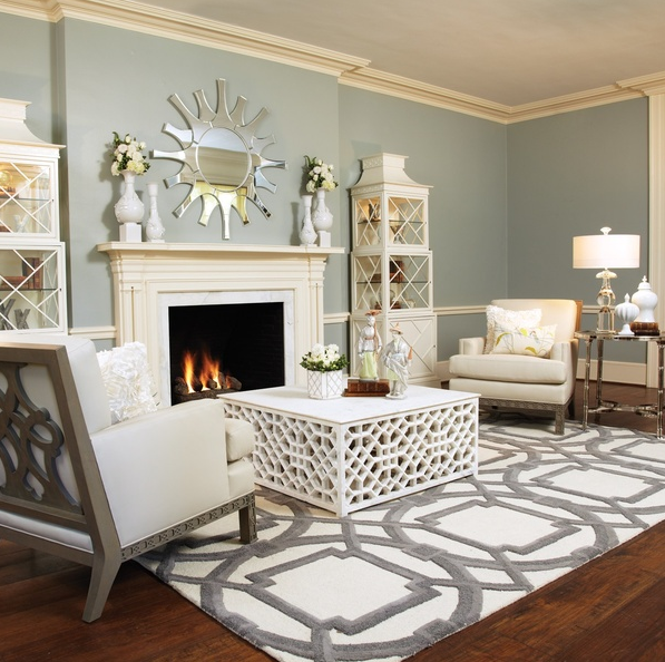 Space Furniture Rug: Classic With A Twist: Layered Rugs