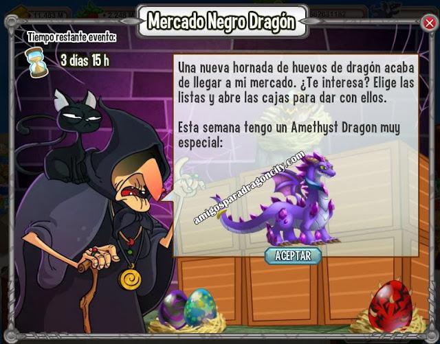 imagen de amethyst dragon en el mercado negro del dragon