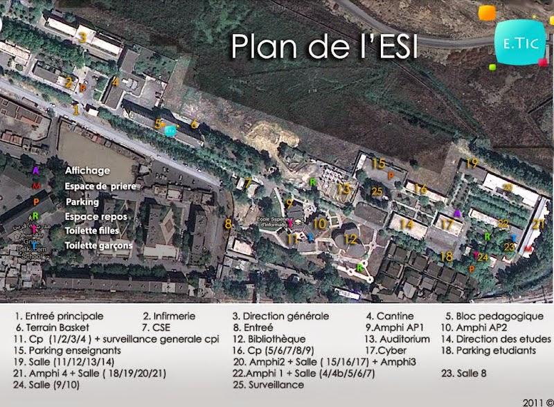 ESI - Plan de l'ecole