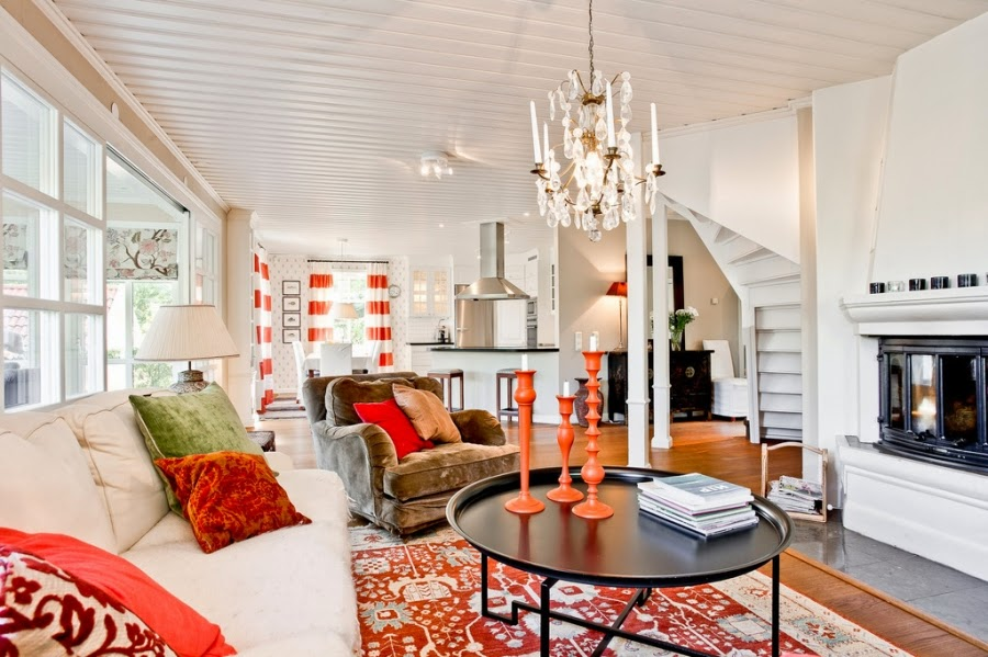 wystrój wnętrz, wnętrza, home decor, dom, mieszkanie, styl tradycyjny, styl klasyczny, białe wnętrza, salon