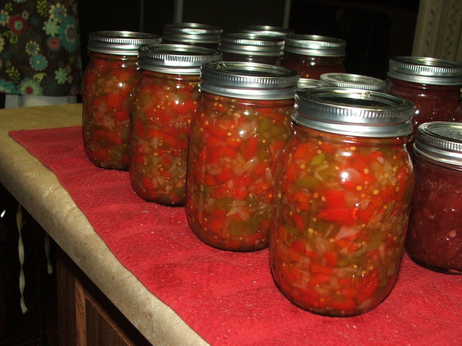 how to make sweet pepper relish