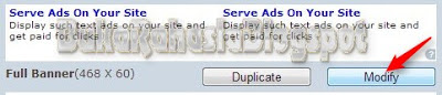 modifikasi tampilan slot iklan bidvertiser