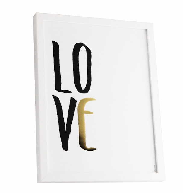 love print framed wall decoration