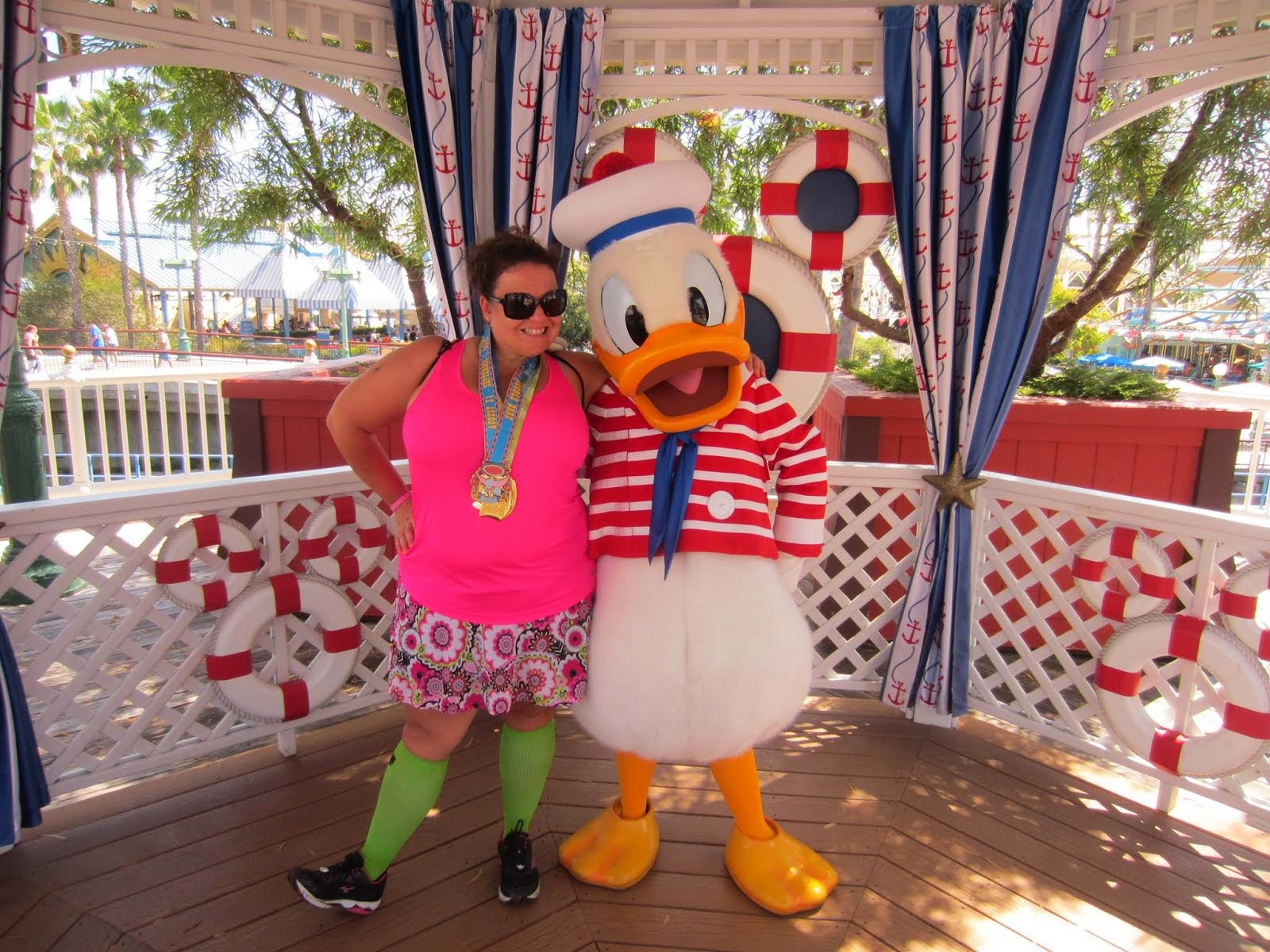 Celebrating Dumbo Double Dare with my friend Donald Duck