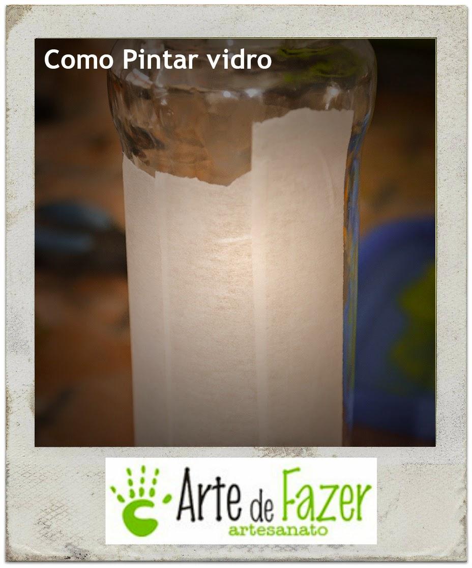 DIY Como pintar vidros com Tinta para artesanato | Passo 1