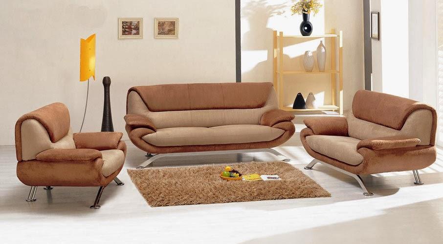 Modern Microfiber Sofa Set