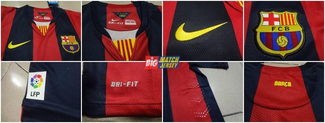 Detail Jersey Barcelona 2014 - 2015 Grade Ori - Jual Jersey Bola