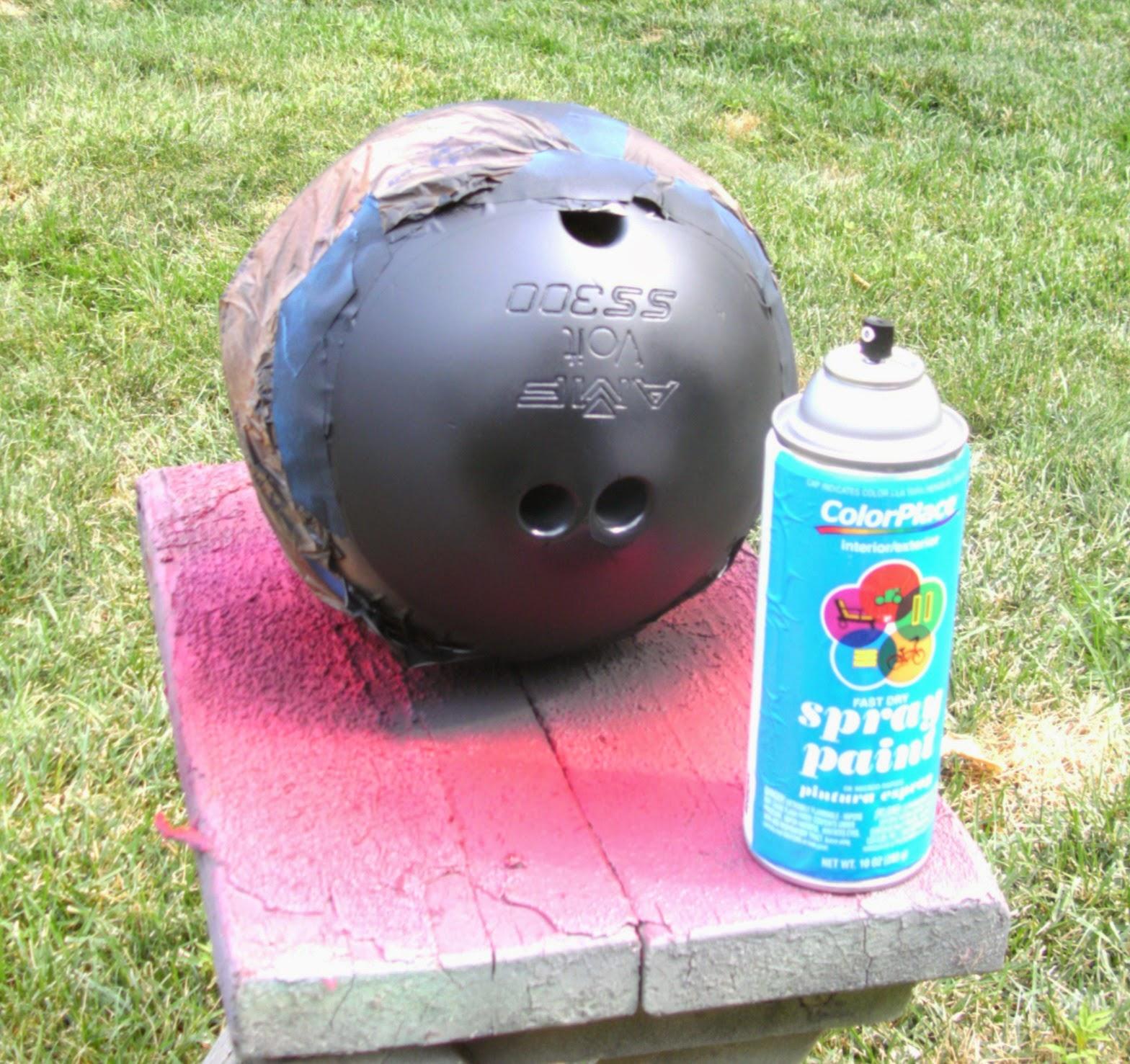 Upcycled Bowling Ball Yard Art Weekend Yard Work Series
