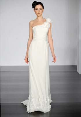 flower one-shoulder-wedding-dress