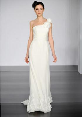 flower one-shoulder-wedding-dress