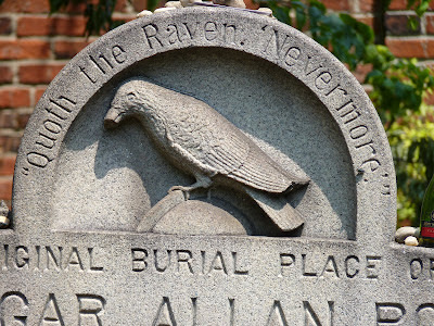 raven on gravestone