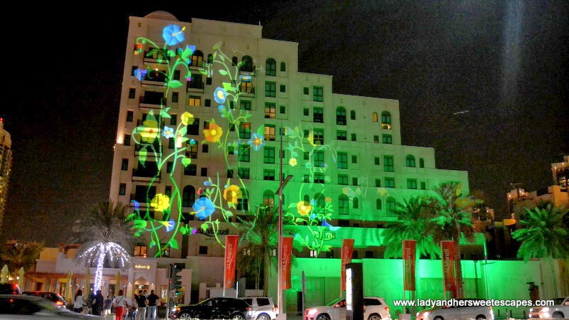 Vegetalization at Dubai Festival of Lights