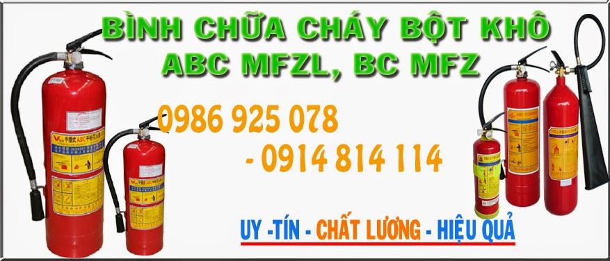 Binh chua chay bot kho abc mfzl, bc mfz
