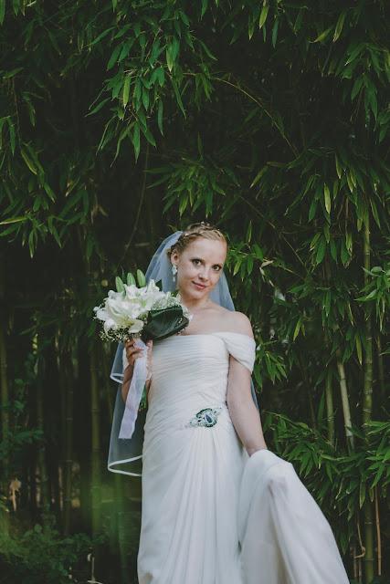 Biżuteria ślubna sutasz ivory i zieleń