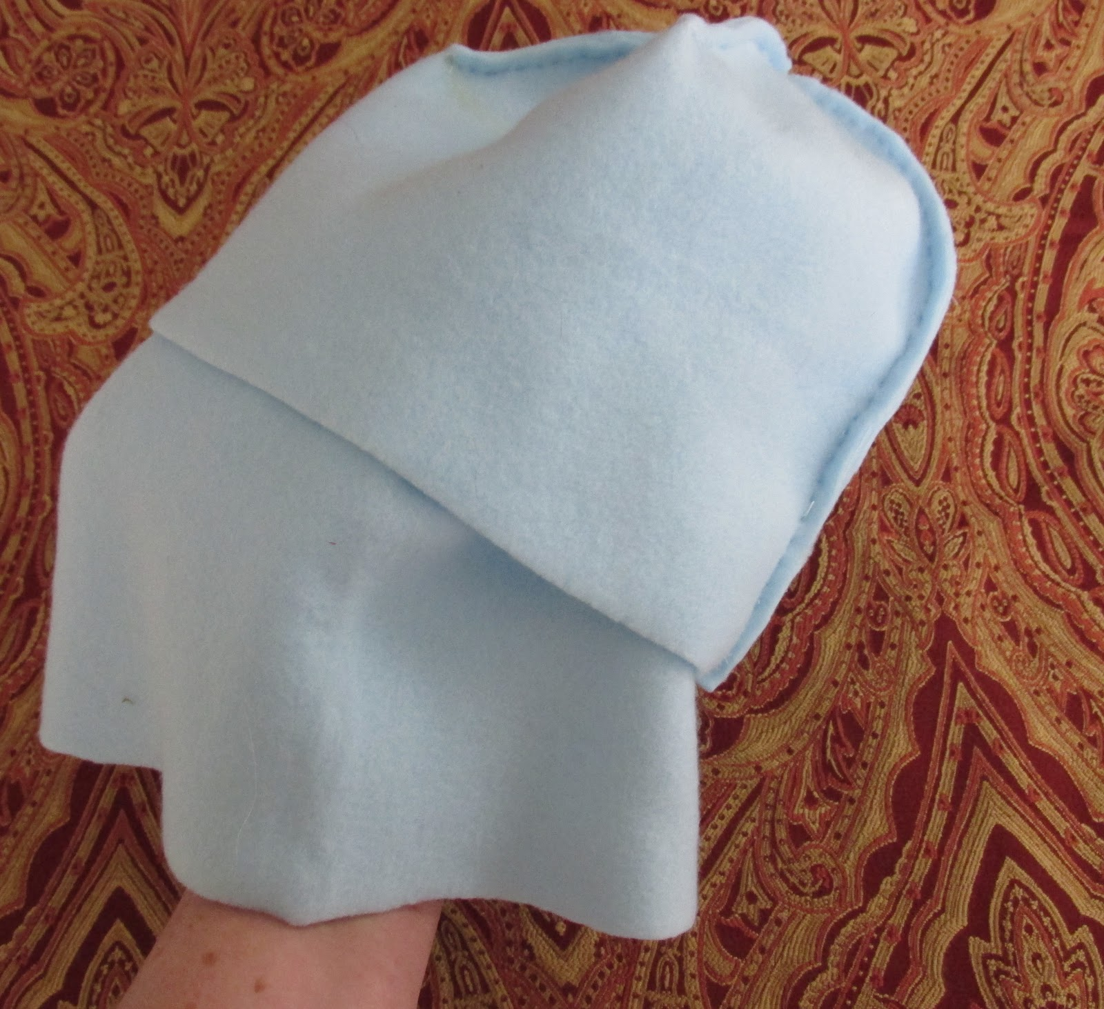 how to make a stocking hat out of fleece