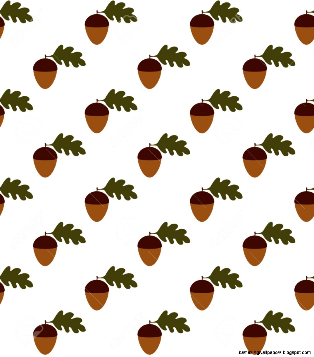 Seamless Acorn Pattern Design Vector Illustration Royalty Free