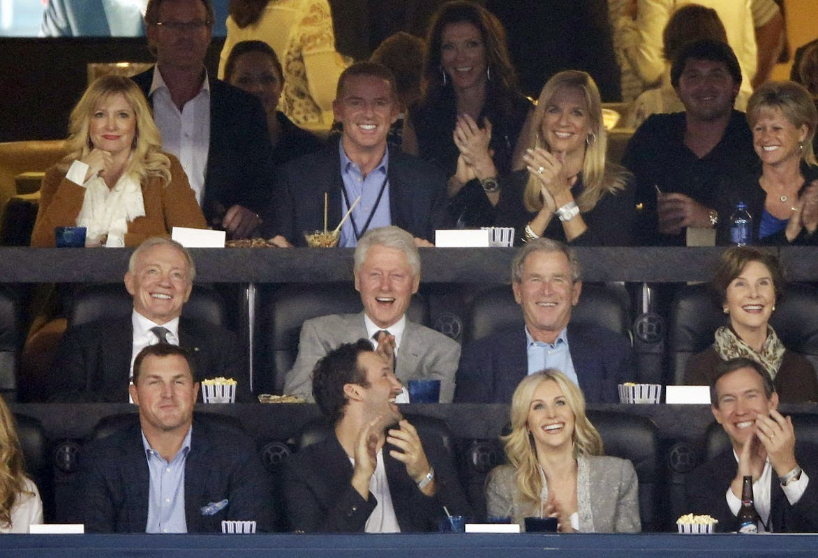 Four Cowboys and two presidents