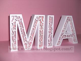 3D Letters 1     wesens-art.blogspot.com