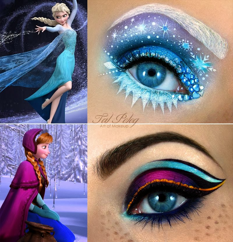 Maquiagem artística inspirada em Frozen
