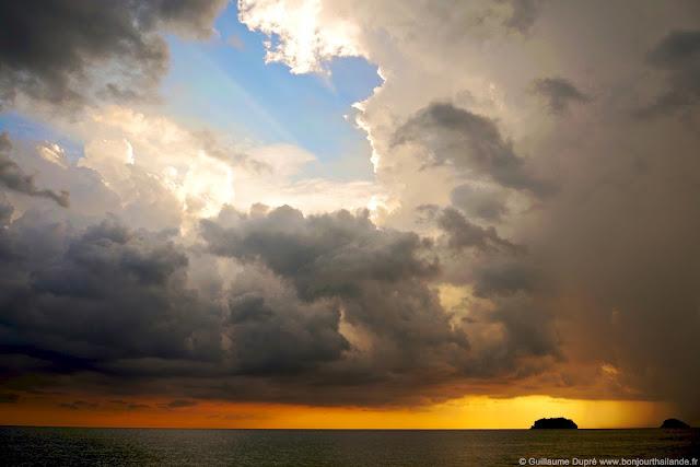 Koh Chang Thailande coucher de soleil