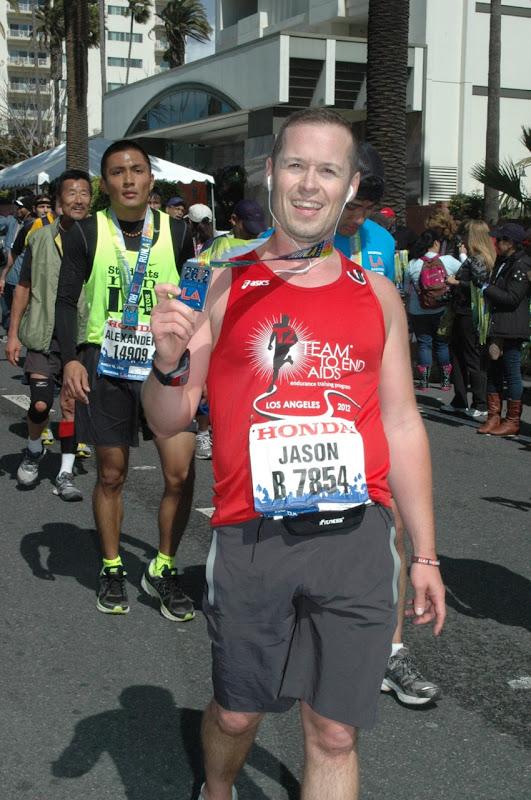 LA Marathon 2012 medal recipient